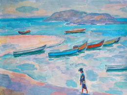 "© Борис Карафелов. ""Лодки в Хоф-Доре"", 2004 г."
